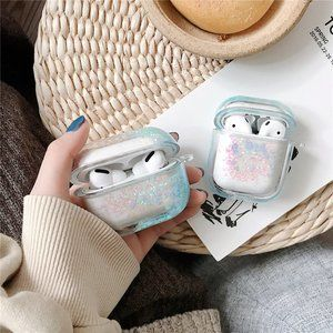 Glitter Liquid Quick Sand Airpods 1 2 Pro case